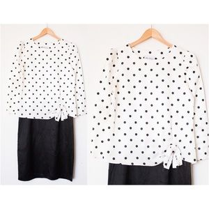 Miss Dorby Vintage Black & White Polka Dot Dress